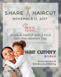 hair cuttery u0027s veterans day share a haircut program to benefit