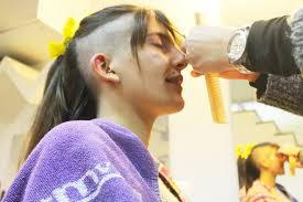 Half Shaved Hairstyles Girls by Beautiful Getting Both Sides Of Her Head Shaved Keeping Long