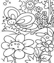 the elegant spring coloring pages for kids pertaining to house