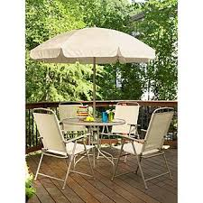 Patio Table With Umbrella Essential Garden Folding 6 Piece Patio Set Limited Availability