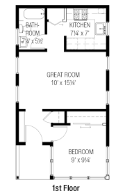 Apartment Over Garage 24 X 30 1 Bedroom House Plans