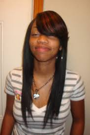 sew in hairstyles with bangs hair is our crown