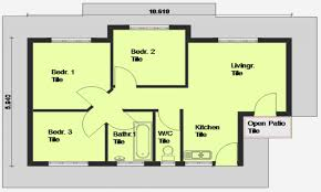 House Design Styles In South Africa Simple 3 Bedroom House Plans Without Garage Flat Plan Drawing