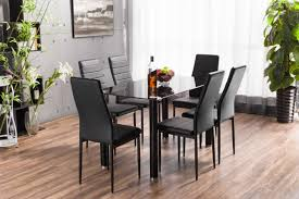 table and 6 chair set lunar rectangle glass dining table 6 chairs set furniturebox