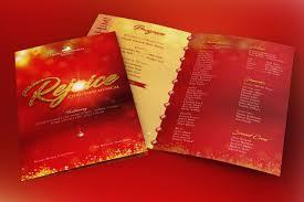 christmas concert program template rejoice christmas cantata program template on behance
