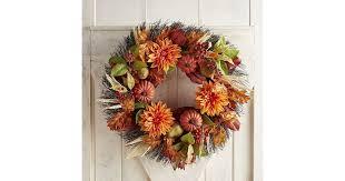 pier 1 imports faux pumpkin dahlia oversized wreath best fall