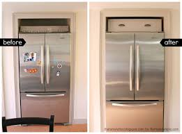 gap between fridge and cabinets remodelaholic build a cabinet over the fridge