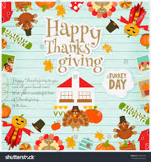 thanksgiving holiday card thanksgiving day card holiday frame turkey stock vector 512891302