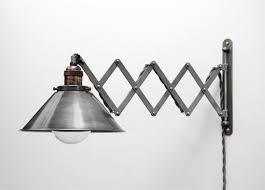 scissor lamp articulating adjustable steel swing sconce