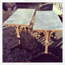 Zinc Top Bistro Table French Marble Top Bistro Table With Cast Iron Base Marble Top