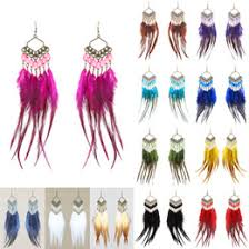 feather earrings online pink blue feather earrings nz buy new pink blue feather earrings