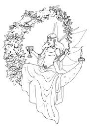wiccan coloring page free download