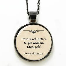 bible necklace 10pcs lot bible necklace how much better to get wisdom than gold