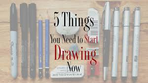5 basic things you need in your art kit to start drawing now youtube
