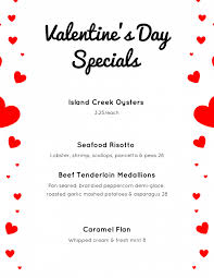 valentines specials cala s s day specials serenitee restaurants