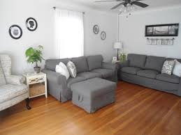 neutral living room paint color benjamin moore gray owl oc 52 at
