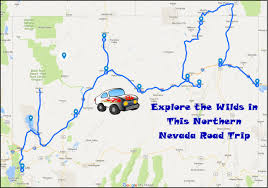 nevada road map explore the wilds with this northern nevada road trip only in