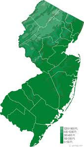 New Jersey rivers images Map of new jersey gif