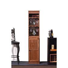 Oak Bar Cabinet Concepts In Wood 21 Bottle Oak Bar Cabinet Wc1572 D The Home