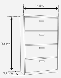Bush Lateral File Cabinet by Lateral File Cabinet Dimensions Pp44 Info