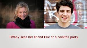 english speaking practice tiffany sees her friend eric at a