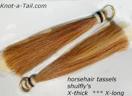 Shoo Hair horsehair tassel shoo fly x thick stacked shoo fly stop