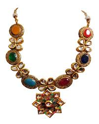 earring necklace sets images Flanoy austrian crystal gold plated multi colors necklace set with jpg