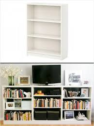 billy bookcase as tv stand w storage home decor idea