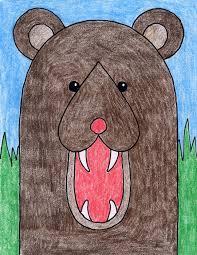 draw bear head art projects kids
