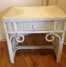 white wicker end table end tables designs white wicker end table with glass top resin
