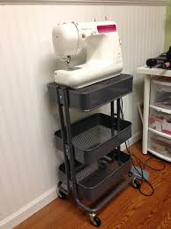 Kitchen Carts Ikea by Raskog Flip The Top Basket To Make A Platform For Sewing Maching