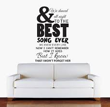 sophie jenner wall stickers 1d one direction lyrics wall stickers 1d one direction best song ever lyrics wall sticker