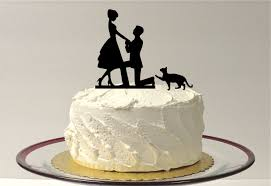 cat wedding cake toppers made in usa cat groom silhouette wedding cake