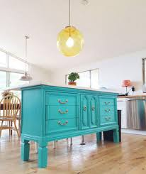 turquoise kitchen island 7 diy kitchen islands to really maximize your space real simple