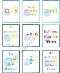 translating verbal expressions into algebraic expressions worksheets 13 best translate verbal expression and equations images on