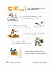 making inferences pictures worksheet education com