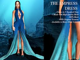 second life marketplace blokc empress dress shades of blue ombre