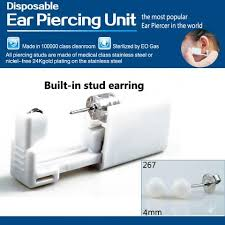sterilized ear piercing studs disposable safe sterile ear stud piercing gun piercer tool machine