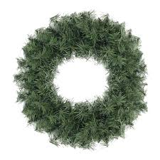 24 canadian pine artificial wreath unlit
