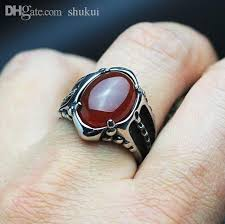 classic skeleton ring holder images Wholesale black onyx red agate ring for men thick band in antique jpg