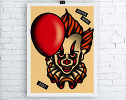 tattoo home decor horror tattoo flash etsy