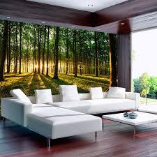 wallpaper 350x245 cm 3 colours to choose non woven top 3 colours to choose non woven top murals wall mural photo modern sunshine forest nature landscape