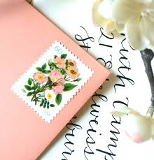 wedding invitations stamps vintage floral bouquet print postage stamp a la rifle paper co