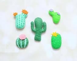 felt cactus ornament felt succulent stuffed cactus plant faux