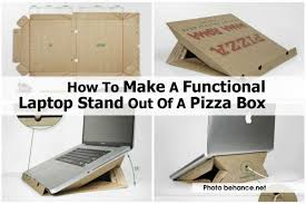 how to make a functional laptop stand out of a pizza box