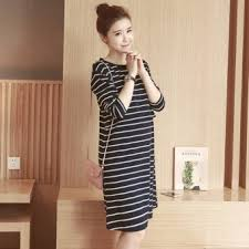 maternity dress maternity dress striped sleeve nursing dress clothes