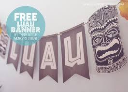 free printable luau banner a hawaiian luau party by