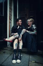 tattoos jagermeister u0026 a black wedding dress corrinne u0026 duncan