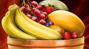 fruit in a basket fresh fruits in a basket hd painting