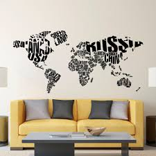 wall decal world map letters world map wall decal large details wall decal